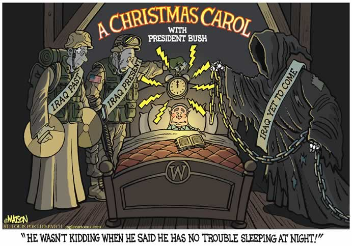 The Black Commentator - Cartoon: A Christmas Carol With President Bush