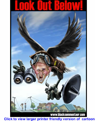 Cartoon: The Dubya Spy Bird - Look Out Below By 29