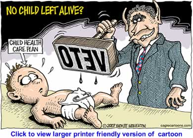 Political Cartoon: No Child Left Alive By Monte Wolverton, Cagle Cartoons