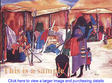 Art: Fabric Market By Margaret Warfield