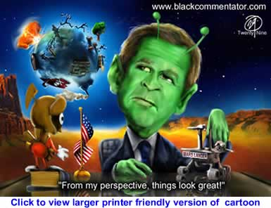 Political Cartoon: Dubya in Outer Space By 29