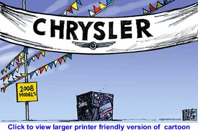 Political Cartoon: Chrysler Job Cuts By Tab, The Calgary Sun