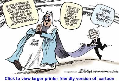 Political Cartoon: Our Saudi Friends By Mike Keefe, The Denver Post