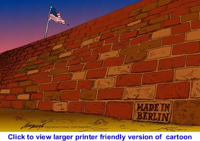 Political Cartoon: Recycled Wall By Nerilicon, CagleCartoons.com, Mexico City