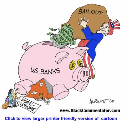 Political Cartoon: Bank Bailout