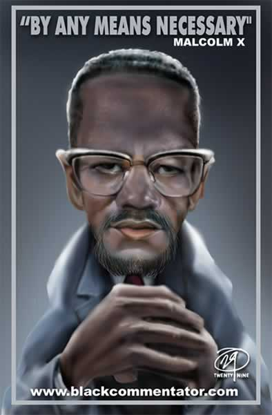 Political Cartoon: Malcolm X -