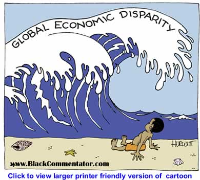 Political Cartoon: Global Economic Dispartity By Mark Hurwitt