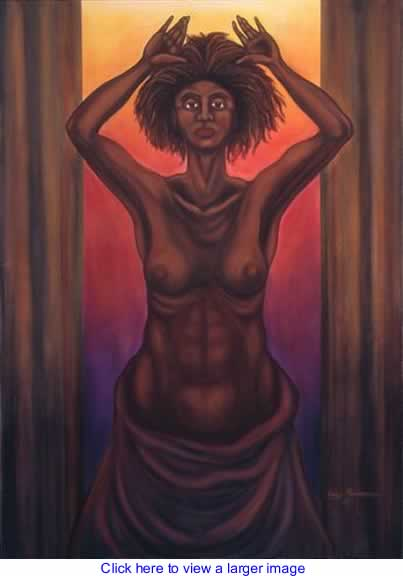 Art: Vulnerability a Woman in Darfur By Larry Richardson