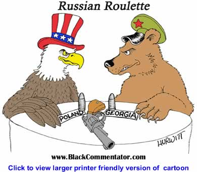 Political Cartoon: Russian Roulette By Mark Hurwitt