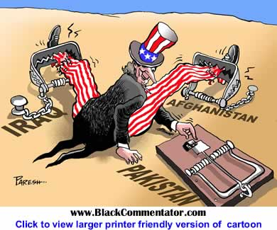 BlackCommentator.com - Political Cartoon: America in Pakistan By Paresh Nath, The Khaleej Times, UAE