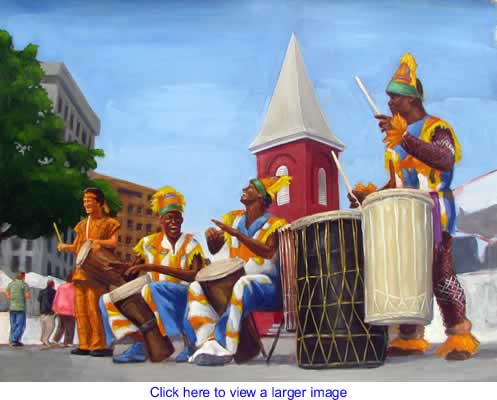 Art: African Drummers By London Ladd