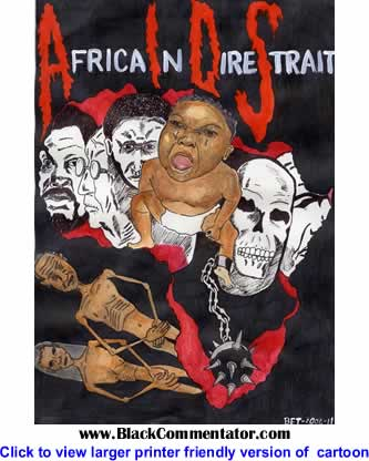 Political Cartoon: Africa-in-Dire-Straits By Bhekani Thwala, South Africa