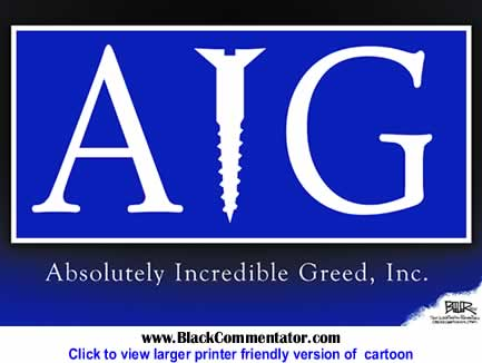 Political Cartoon: AIG By Nate Beeler, The Washington Examiner