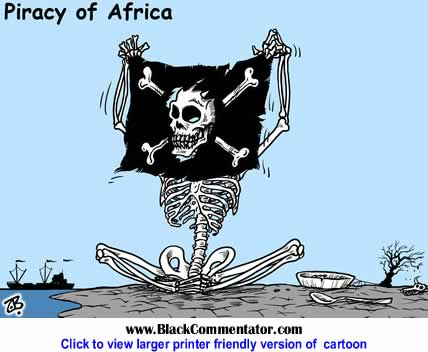 Political Cartoon: Piracy of Africa By Emad Hajjaj, Jordan
