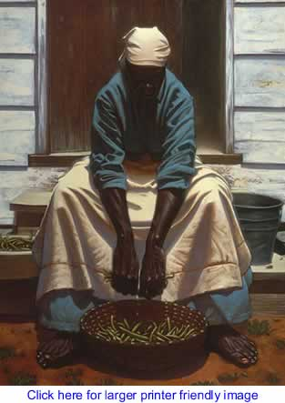 Art: Green Beans By Kadir Nelson