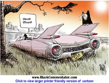 Political Cartoon: General Motors - Vroom By Paul Zanetti, Australia