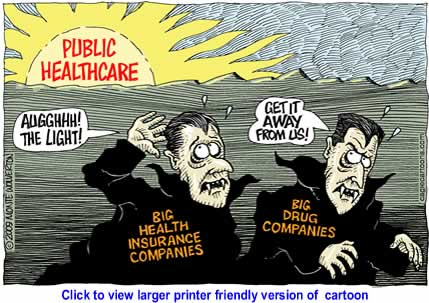 Political Cartoon: A New Dawn for Healthcare By Monte Wolverton, Cagle Cartoons