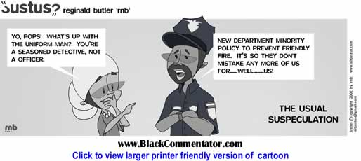 Political Cartoon: The Usual Suspeculation in the recent NYPD shooting! By Justus