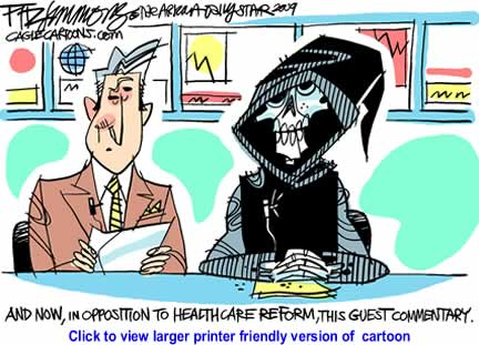 Political Cartoon: Health Care Reform By David Fitzsimmons, The Arizona Star