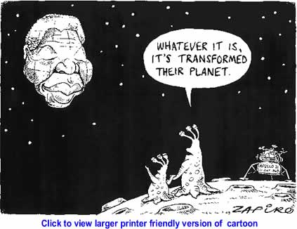 Political Cartoon: Nelson Mandela at 91 By Zapiro, South Africa