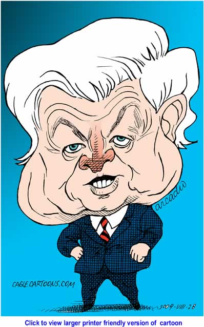 Political Cartoon: Ted Kennedy By Arcadio Esquivel, Cagle Cartoons, La Prensa, Panama