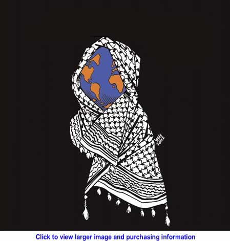 Art: World for Palestine - 2010 Calendar By Carlos Latuff for Resistance Art
