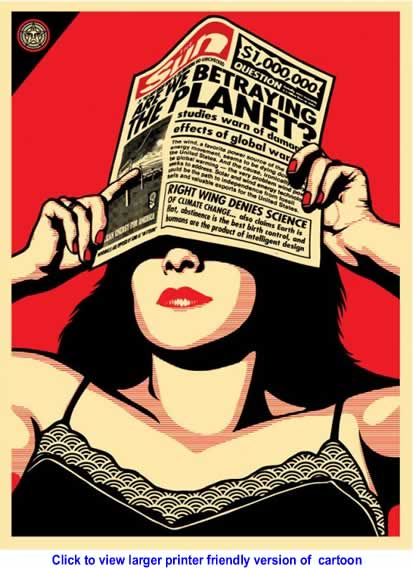 Cartoon: Global Warning By Shepard Fairey