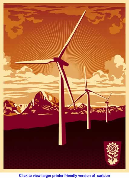 Cartoon: Obey Windmill By Shepard Fairey