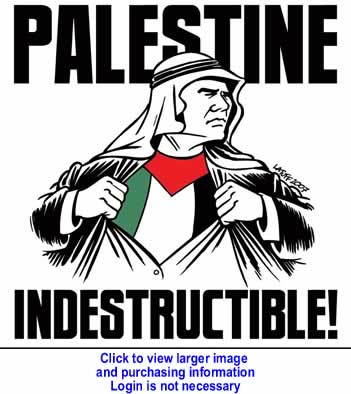 Art: World for Palestine Calendar - Palestine Indestructible- December 2010 By Carlos Latuff for Resistance Art