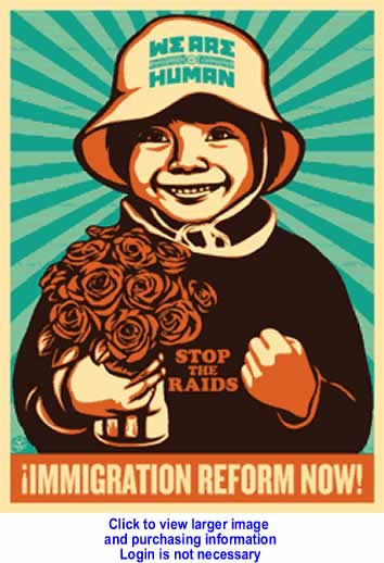 Art/Cartoon: Immigration Reform By Shepard Fairey