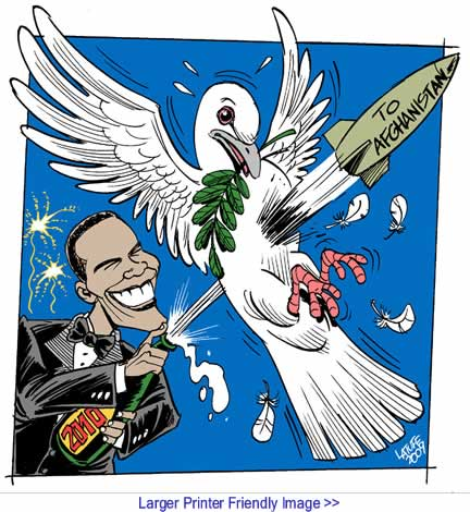 Cartoon: Happy 2010 from Obama By Carlos Latuff
