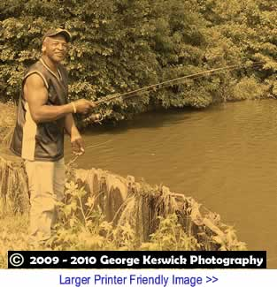 Art: Gone Fishing By George Keswick, Documentary Portrait Photography