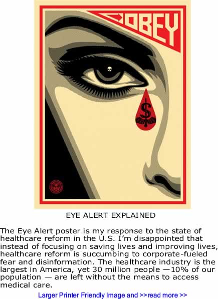Art: Eye Alert By Shepard Fairey