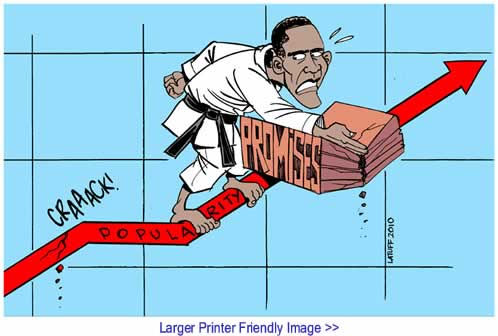 Cartoon: Obama - The First Year By Carlos Latuff