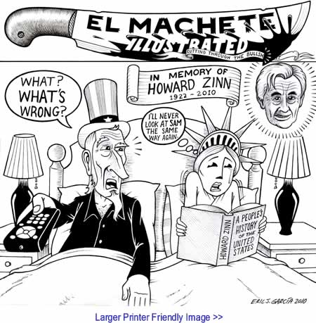 Cartoon: In Memory of Howard Zinn By Eric Garcia