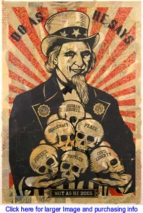 Art/Political Cartoon: Uncle Scam By Shepard Fairey