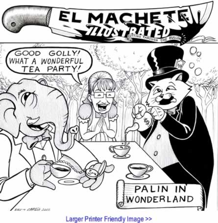 Political Cartoon: Palin in Wonderland By Eric Garcia