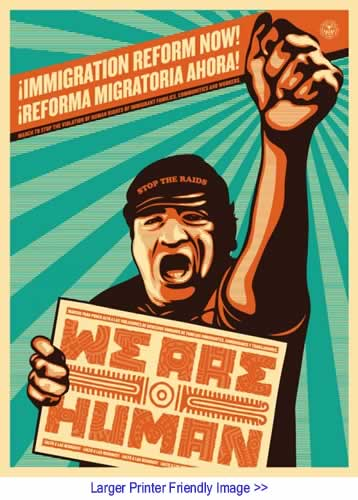 Art: Immigration Reform By Sheppard Fairey