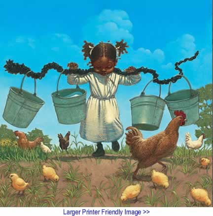 Art: Buckets and Chickens By Kadir Nelson