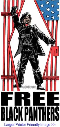 Political Cartoon: Free Black Panthers By Carlos Latuff