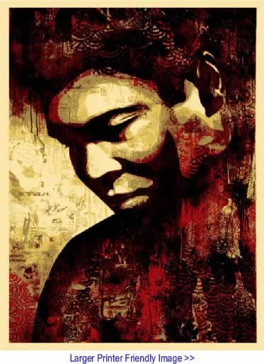 Art: Ali By Shepard Fairey