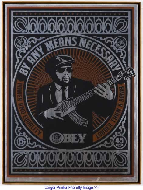 The Black Commentator - Art: By Any Means Necessary By Shepard Fairey, Los Angeles CA