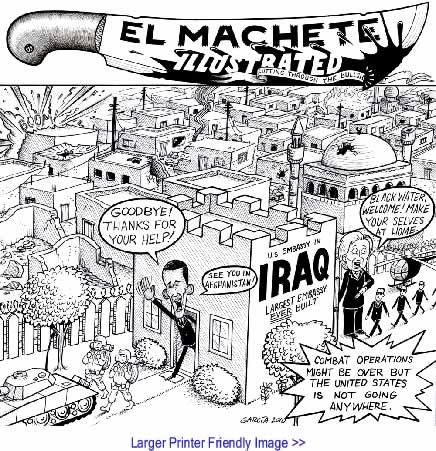 BlackCommentator.com: Political Cartoon - We're Not Going Anywhere By Eric Garcia, Albuquerque NM