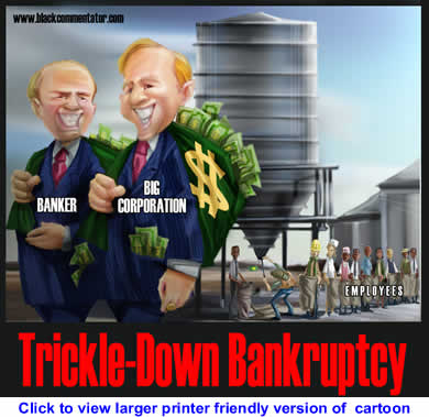 BlackCommentator.com: Political Cartoon - Trickle Down Bankruptcy By 29, The Philippines