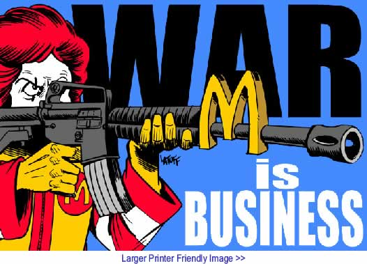 BlackCommentator.com: Political Cartoon - War is Business By Carlos Latuff, Brazil