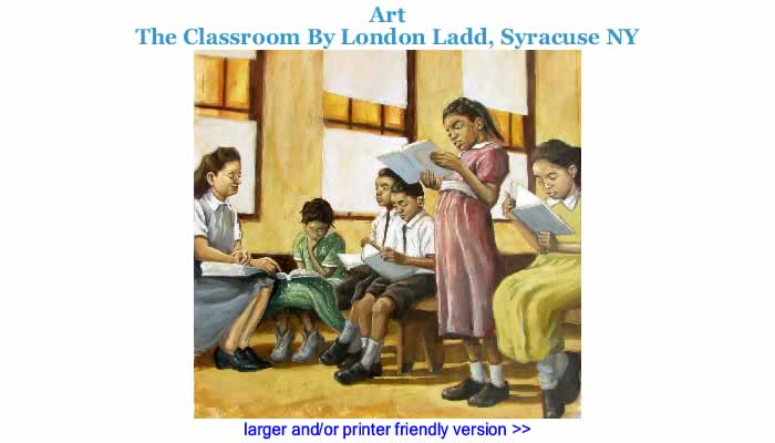 Art: The Classroom By London Ladd, Syracuse NY