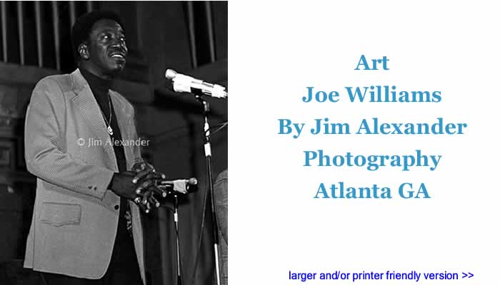 Art: Joe Williams By Jim Alexander Photography, Atlanta GA
