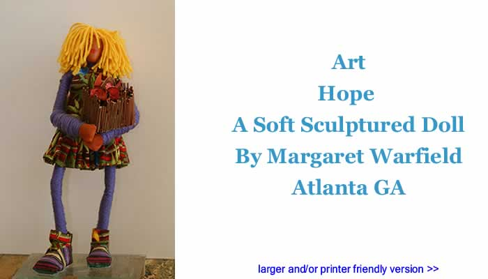 Art: Hope - A Soft Sculptured Doll By Margaret Warfield, Atlanta GA