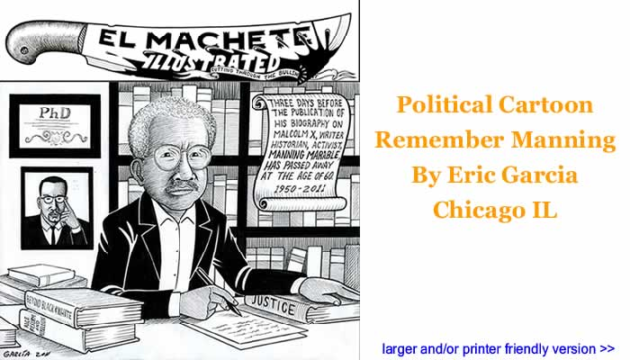 Political Cartoon - Remember Manning By Eric Garcia, Chicago IL