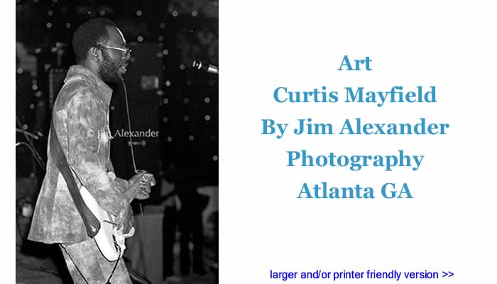 Art: Curtis Mayfield By Jim Alexander Photography, Atlanta GA